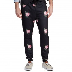 Antler And Woods Vintage Rose Tapered Jogger Pants - Black