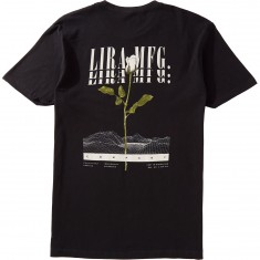 Lira White Rose T-Shirt - Black