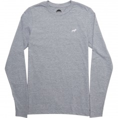 Hopps Lion Emb Longsleeve T-Shirt - Heather Grey/Red