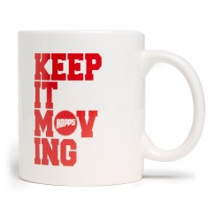 Hopps Keep It Moving Coffee Mug - White/Red