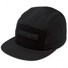 Raised By Wolves Juno Camp Hat - Black Cotton Ripstop