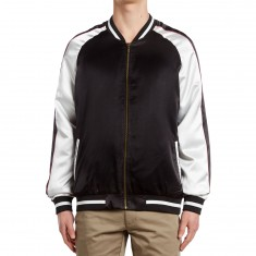 Standard Issue Solid Color Block Jacket - Black/White