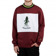 Pas De Mer National Garden Sweatshirt - Dark Burgundy/White