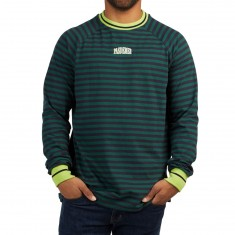 Pas De Mer PDM Longsleeve Shirt - Green/Acid Yellow