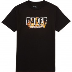 Baker Brand Logo Burning T-Shirt - Black