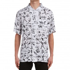 Deathwish Rocky Button Up Shirt - White