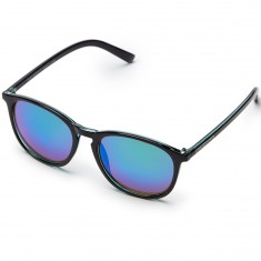 Happy Hour Flap Jacks Jon Dickson Sunglasses - Gloss Black/Blue Mirror