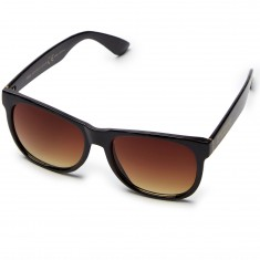 Happy Hour Swag Sunglasses - Gloss Black/Dark Amber