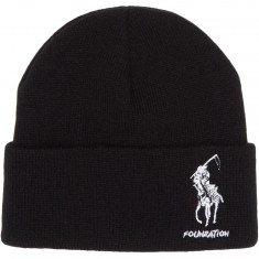 Foundation Polo Reaper Beanie - Black