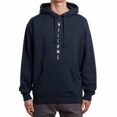Welcome Vert Symbol Heavyweight Hoodie - Slate