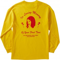 40s And Shorties First Time Longsleeve T-Shirt - Yellow