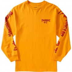 Psockadelic X OJ Wheels Killer Pizza Longsleeve T-Shirt - Gold/Red