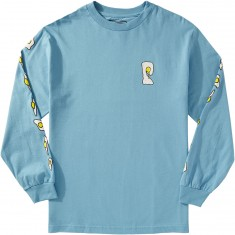 Psockadelic Fried Longsleeve T-Shirt - Light Blue/White