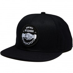 Sketchy Tank Demons Snap Back Hat - Black