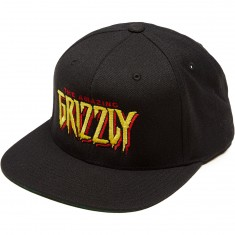 Grizzly X Spiderman Snapback Hat - Black