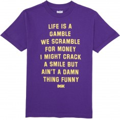 DGK Gamble T-Shirt - Purple