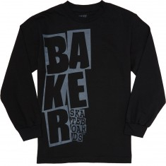 Baker Stacked Longsleeve T-Shirt - Black