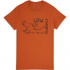 Lowcard Live 2 Ride T-Shirt - Burnt Orange