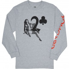 Lowcard Hauk Straddle Longsleeve T-Shirt - Heather Grey