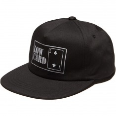Lowcard Lifer Classic Unstructured 5 Panel Snapback Hat - Navy