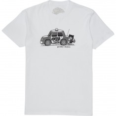 Paisley Cop Car T-Shirt - White