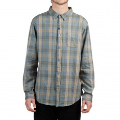 Imperial Motion Hadlock Flannel Shirt - Light Blue