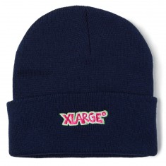 Xlarge Menacing Cuffed Beanie - Navy