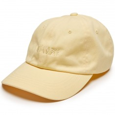 Welcome Tonal Scrawl Unstructured 6 Panel Hat - Yellow
