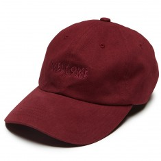 Welcome Tonal Scrawl Unstructured 6 Panel Hat - Maroon