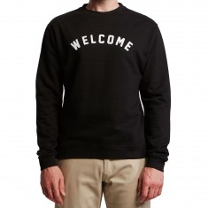Welcome Academic Midweight Crew Sweatshirt - Black/White