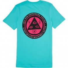 Welcome Latin Talisman T-Shirt - Teal/Pink