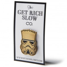 Get Rich Slow Bart Wars Pin