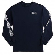 Passport Fountains For Life Long Sleeve T-Shirt - Navy