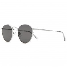 Crap Eyewear The Tuff Safari Sunglasses - Brushed Silver/ Smoke Grey