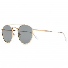 Crap Eyewear The Tuff Safari Sunglasses - Brushed Gold/Crystal Clear