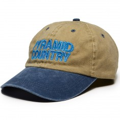 Pyramid Country Food City Hat - Khaki/Blue