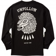 Sketchy Tank Unfollow Longsleeve T-Shirt - Black