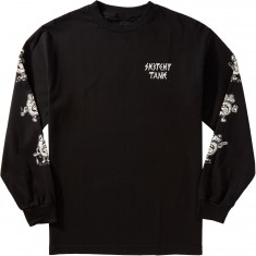 Sketchy Tank Party Sixes Longsleeve T-Shirt - Black