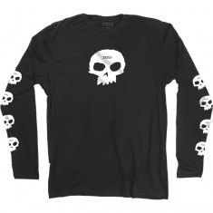 Zero Multi Skull Longsleeve T-Shirt - Faded Black