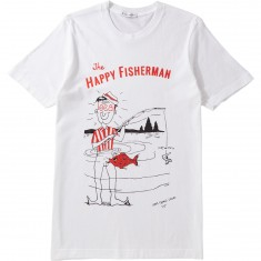 Less Than Local Happy Fisherman T-Shirt - White
