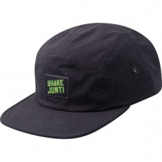 Shake Junt Spray Logo 5 Panel Camper Hat - Black