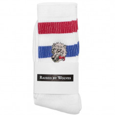 Raised By Wolves Wolf Socks - White