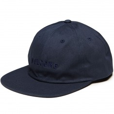Welcome Academic Unstructured 6-Panel Snapback Hat - Navy/Black