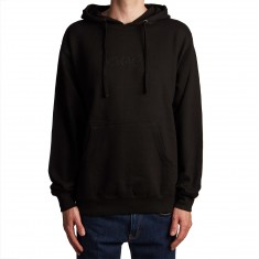 Welcome Scrawl Embroidered Midweight Hoodie - Black/Black