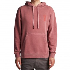 Welcome Marker Pigment-Dyed Hoodie - Red/Red