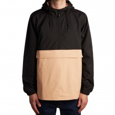 Welcome Team Anorak Jacket - Black/Peach