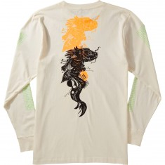 Welcome Koi Boi Longsleeve T-Shirt - Bone