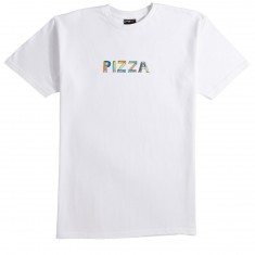 Pizza Stained Glass T-Shirt - White
