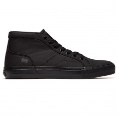 State Salem Shoes - Black/Black Waxed Canvas