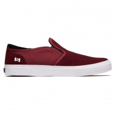 State Keys Shoes - Black Cherry/White Suede